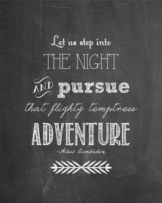 Harry Potter Dumbledore Quote Adventure by ChelseaPrintables, $4.00