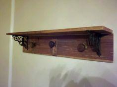 Door knob coat rack with shelf