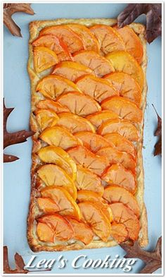 """Lea's Cooking: """"French Persimmon Tart"""""""