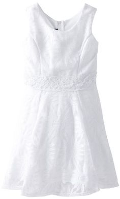 White Dress - Pin It :-) Follow Us :-))  azDresses.com  is your  Dresses Product Gallery.  CLICK IMAGE TWICE for Pricing and Info :) SEE A LARGER SELECTION of  white dresses at http://azdresses.com/category/dress-categories/dresses-by-color/white-dress/  - women, womens fashion,womens dresses, dress -  Amy Byer Girls 7-16 Daisy Lace Skater Dress, White, 12 « AZdresses.com