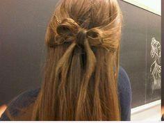 bow, braides, bun, fashion, girl