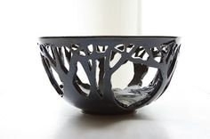 awesome cut-out forests, art inspir, bowl, pinchpot, pinch pot, forest form, ceramic art, clay inspir, potteri