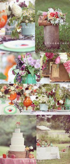 Flower arrangings.