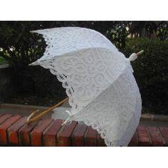 Lace Parasols Umbrellas Black Gothic Victorian Wedding White