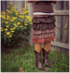Womens Ruffle skirt-SIZES XS-XL -Design your custom skirt- on Etsy, $45.00