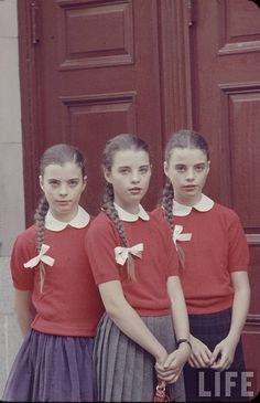 The Deen Triplets/ photographed by Nina Leen, one of LIFE's first female photographers in the mid 1940s
