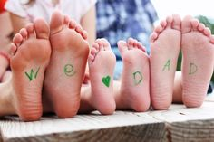 """I took this photo of the kids for a Father's Day card. """"We {heart} Dad"""""""