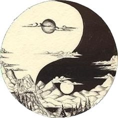 sun and moon yin yang tattoo, tattoo ideas, tattoos ying yang, yinyang, sacred geometry, ancient symbol, ying yang tattoos, sun and moon ying yang tattoo, nature tattoo