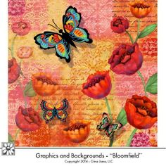 Beautiful digital downloads of scrapbook papers, flowers, poppies, peonies, butterflies and more. Gorgeous designs by professional artist Gina Jane. DAISIE COMPANY: Printable Digital Paper Crafts, Clipart, Scrapbooking, Stamp, Party - DaisieCompany.com