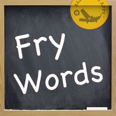 Fry Words app and other top free apps for education    ----BTW, Please Visit:  http://artcaffeine.imobileappsys.com
