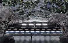 Surreal Cave Paintings of Stockholm's Metro Stations