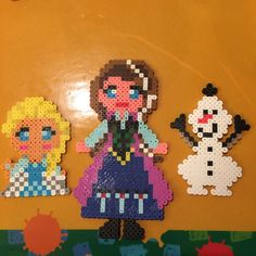 Frozen characters perler beads by liu80