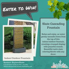 Win a indoor/outdoor fountain from @brylanehome #giveaway