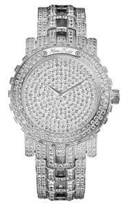 silver and diamonds luxury watch