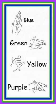 Sign Language Colors