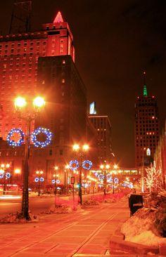 Christmas lights in Milwaukee