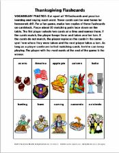 Thanksgiving Flashcards Vocabulary Exercise 5 Pages - pinned by @PediaStaff – Please Visit ht.ly/63sNtfor all our pediatric therapy pins