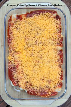 Freezer Friendly Bean and Cheese Enchiladas ~ part of our 31 Days of Freezer Cooking Recipes | 5DollarDinners.com