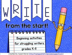 TGIF! - Thank God It's First Grade!: Starting Writer's Workshop in First Grade!