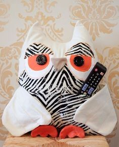Owl Remote Caddy by @De Jay J #MichaelsFab