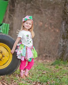John Deere Scrappy Tutu Rag Skirt  Girls by trendylittlecreation, $26.99