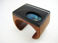 Carved Wood Wrist Cuff / Bracelet statement by RamshackleStudio, $375.00