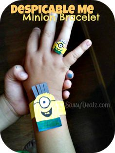How to make a despicable me minion bracelet ---great crafts for kids