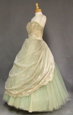 Mint 1960s ball gown