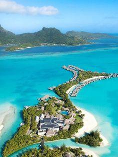 The St. Regis Bora Bora Resort, French Polynesia.