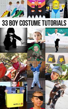 33 costume tutorials for boys! Fantastic! costum tutori, boy costum, 33 costum