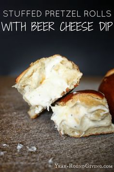 Year-Round Giving: Stuffed Pretzel Rolls with Beer Cheese Dip