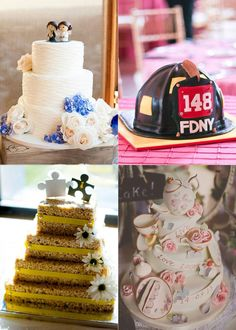 Check out these creative wedding cakes from real brides! | Brides.com