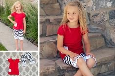 What's Black and Red and Cute All Over? - Girls 2 Piece Outfit #blackredoutfit #cutegirlclothes pickyourplum.com