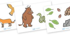 Twinkl Resources >> The Gruffalo Story Cut Outs >> Thousands of printable primary teaching resources for EYFS, KS1, KS2 and beyond! The Gruffalo, resources, mouse, fox, owl, snake, Gruffalo, fantasy, rhyme, story, story book, story book resources, cut out,
