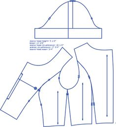 In-House Patterns — fitting sleeves ease, blog post about sleeve cap ease / drafting. From: http://inhousepatterns.com/blogs/news/5803901-fitting-sleeves-ease