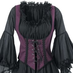 Purple Twill Bodice - New Age, Spiritual Gifts, Yoga, Wicca, Gothic, Reiki, Celtic, Crystal, Tarot at Pyramid Collection