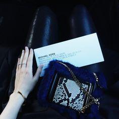 @carolinaengman With a Jimmy Choo Bag on Her Way to New York Fashion Week