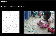 A teacher documents recipes from the sandbox. :)