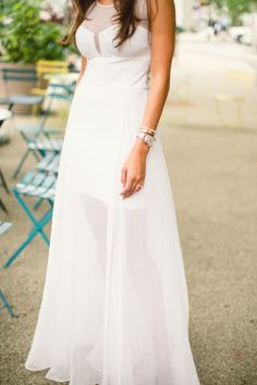 This bride-to-be wore the chicest dress to her engagement session: http://www.stylemepretty.com/little-black-book-blog/2014/09/24/romantic-brooklyn-engagement-session/ | Photography: Lauren Gabrielle - http://laurengabrielle.com/