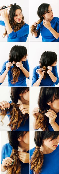 Wrap twist pony tutorial steps! 2 more gorgeous and easy looks included!