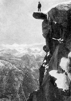 George Fiske, Overhanging Rock, Glacier Point, Yosemite Valley, California, 1910.