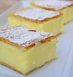 Vanilla Slice - vanilla custard pie bar.