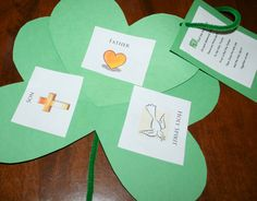 St. Patrick's Day Craft: Shamrock Trinity.  I love the poem that goes with this shamrock craft. Charlotte's Clips