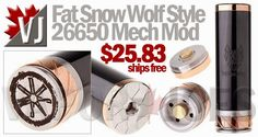 Fat Snow Wolf Style 26650 Mechanical Mod with Black Finish