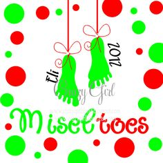 DIY set for Christmas Miseltoes  for 12x12 Canvas ViNyL OnLy. $12.00, via Etsy.
