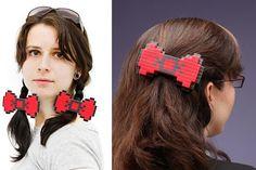 8-Bit Hair Bow (I am a geek) #NeatoPinToWin
