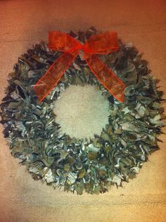 Realtree Camouflage camo Fabric Wreath 14 inch by Loveandstripes