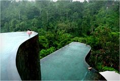 Hanging garden hotel in Ubud, Bali.