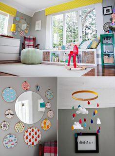 Creative nursery. Very bright and fun