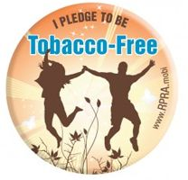 Free Tobacco-Free Pledge Magnet and Pin!
